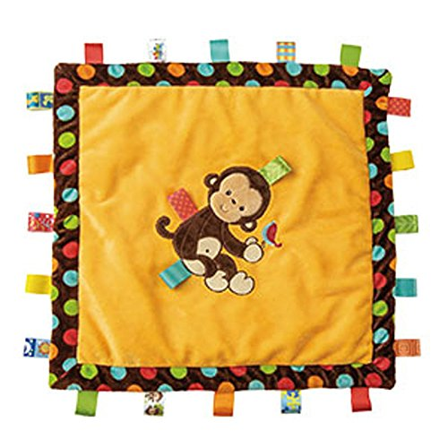Mary Meyer Taggies Dazzle Dots Cozy Blanket, Monkey