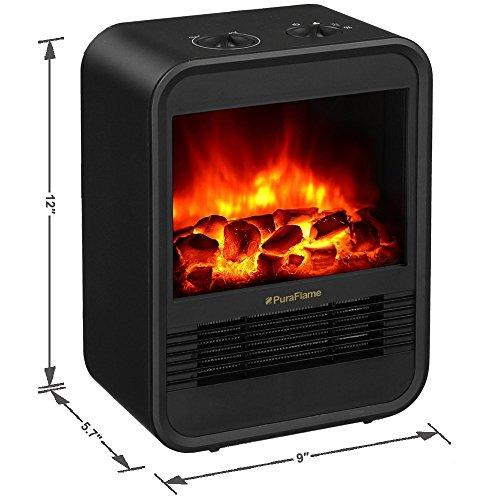 Puraflame Clara Black 9 Inch Mini Portable Fireplace