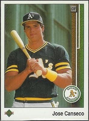 1989 Upper Deck # 371 Jose Canseco Oakland Athletics - MLB Baseball Trading Card