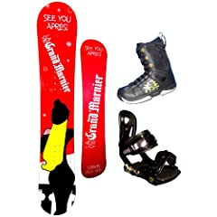 Buy 154cm Grand Marnier See You Apres Camber Mens Snowboard, Boots and Bindings Package or deck, U build it by Grand Marnier