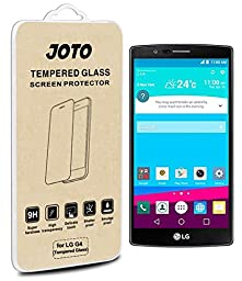 LG G4 Tempered Glass Screen Protector - JOTO LG G4 Premium Tempered Glass Screen Protector Film Guard, [ 0.33 mm / Rounded Edge / Super Crystal Clear ], Real Glass Screen Protector for LG G4 (2015) (1 Pack)
