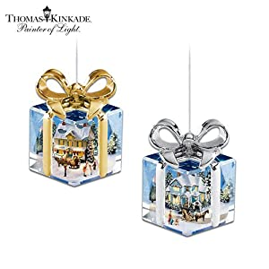 #!Cheap Thomas Kinkade I'll Be Home For Christmas Ornaments by The Bradford Exchange