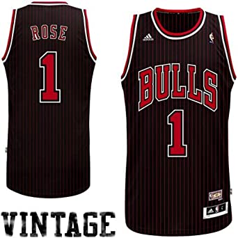 Derrick Rose Chicago Bulls Black Hardwood Classics Swingman Jersey by adidas