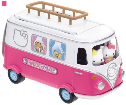 Hello Kitty Toy Car For Girls : Hello kitty camper set doll house girl toy bus camping car