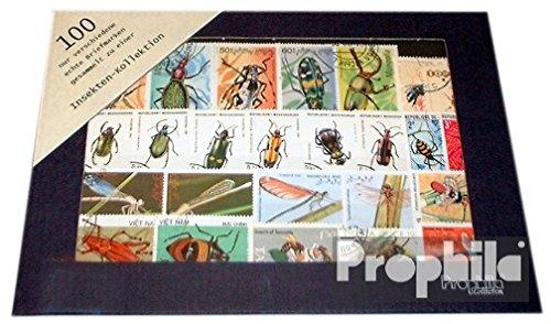 Motives 100 différents Insectes marches (Timbres pour les collectionneurs)
