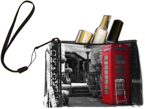 Rikki KnightTM British Phone Booth Design Keys Coins Cards Cosmetic Mini Clutch Wristlet