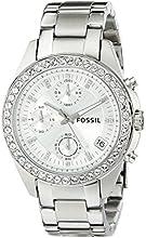 Comprar Fossil ES2681 - Reloj cronógrafo de cuarzo para mujer con correa de acero inoxidable, color plateado