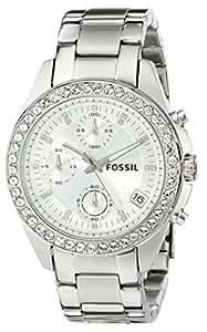 Fossil Women's ES2681 Decker Silver-Tone Stainless Steel Watch with Link Bracelet