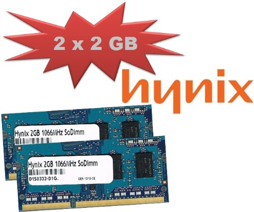 Mihatsch&amp;Diewald Hynix 4GB 2x 2Gb 1066Mhz DDR3 SoDimm Notebook Apple MacBook Pro Imac Mac Mini auch passend f&#252;r Notebooks und Netbooks PC3 8500 204pin