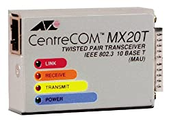 Allied Telesyn Centrecom Mx20T Twisted Pair Micro Transceiver with 4 Leds