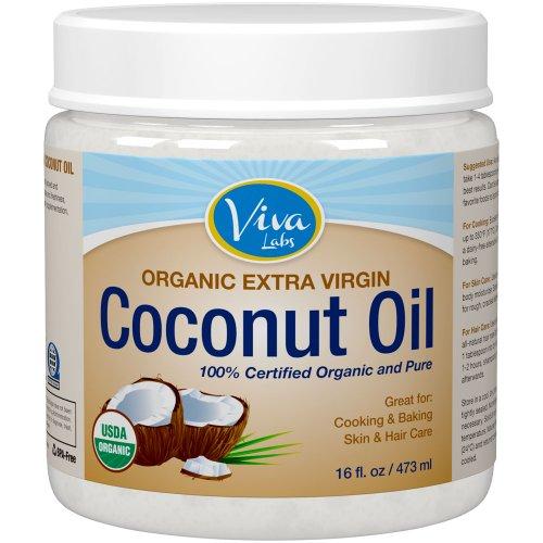 Viva Labs Organic Extra Virgin Coconut Oil, 16 Ounce