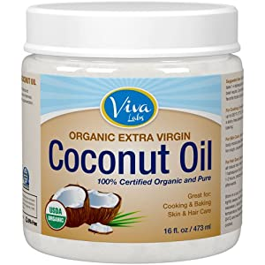 Viva Labs #1 Organic Extra Virgin Coconut Oil - 16 oz