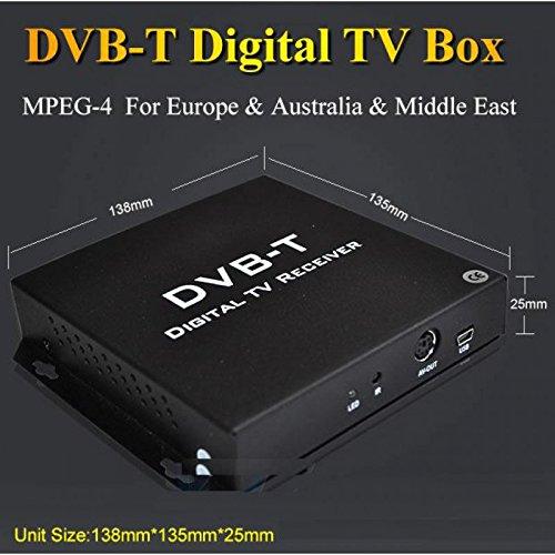 REALMEDIA TV RECEIVER TRUE DOUBLE DIVERSITY KFZ AUTO HD DVB-T TUNER 2 x Active Antenna +++mit REALMEDIASHOP Garantie+++