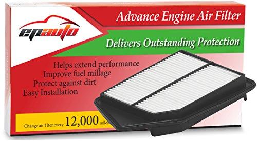 EPAuto GP476 GP476 (CA11476) Rigid Panel Engine Air Filter for Honda Accord (2013-2014), TLX (2015) (Air Filter Honda Accord 2013 compare prices)