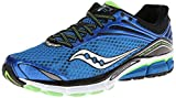 Saucony Men's Triumph 11 Running Shoes - Blue/Black/Green/White, Size 9.5