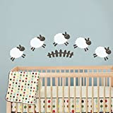 Nusery Counting Sheep Wall Decal Vinyl Art Sticker Kids Room Children Decal (A)
