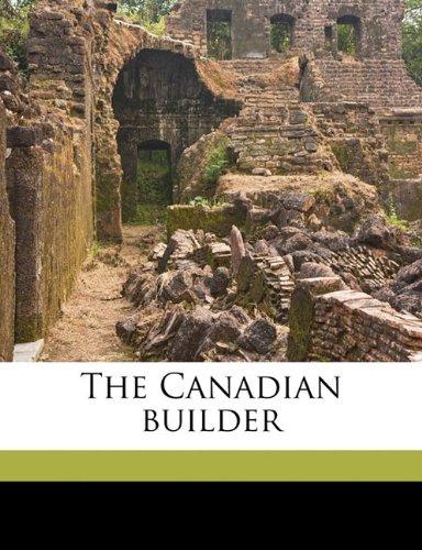 The Canadian builder Volume v.2  nov 1912