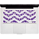 """Kuzy - Purple Chevron Zig-Zag Keyboard Cover for MacBook Pro 13"""" 15"""" 17"""" (with or w/out Retina Display) iMac and MacBook Air 13"""" Silicone Skin - Purple"""