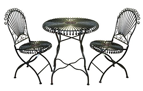 Deco 79 99591 3-Piece Metal Bistro Outdoor Dining Set, 28 by 30-Inch picture