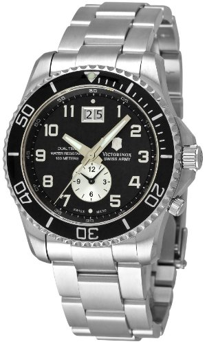 Swiss Army Victorinox Maverick GS Dual Time Mens Watch 241441 Wrist Watch (Wristwatch)