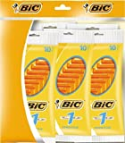 BiC 1 Sensitive Mens Single Blade Disposable Shaver 5 packs of 10