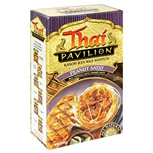 Thai Pavilion Peanut Satay Simmer Sauce With Noodles 67-ounce Boxes Pack Of 6 by Thai Pavilion
