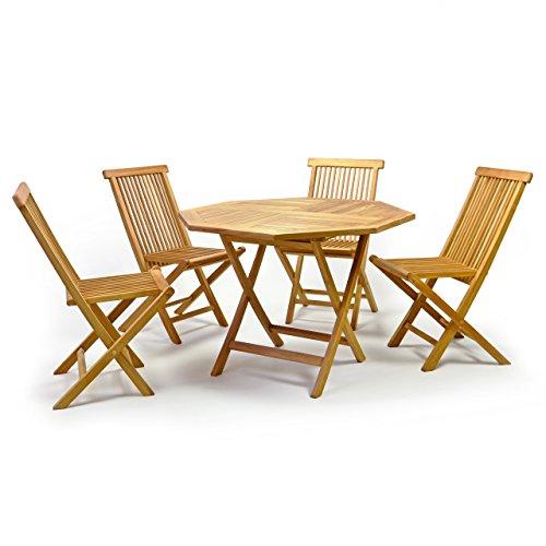 DIVERO-Gartenmbelset-Sitzgruppe-Teakholz-Tisch--100-cm