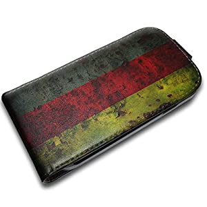 Drapeaux Allemagne 1, Carte du Monde, Design Etui Coque Housse Case Cover Coquille en PU Cuir Noir avec Dessin Coloré et Fermeture Magnétique pour Samsung Galaxy S3 Mini i8190.