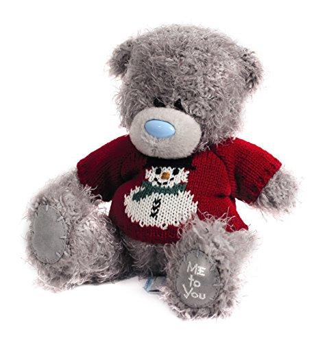 """Me to You Tatty Teddy 7 """"Snowman Motif e Teddy Bear che indossa un maglione"""