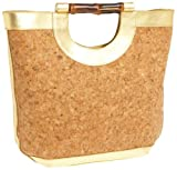 HOBO INTERNATIONAL Perrier Carry-All,Cork/Gold,one size