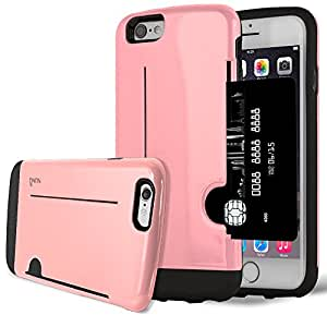 iPhone 6 Case, NuNu iPhone 6 Card Case Slim 1 Card Wallet iPhone 6 Case PINK