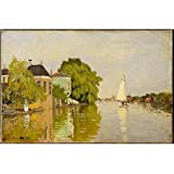 Tallenge Old Masters Collection - Houses On The Achterzaan By Claude Monet - Premium Quality Unframed Digital Canvas Print For Home And Office Décor (12 Inches X 18 Inches)