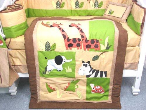 Boutique Safari Jungle Animals  Crib Bedding Set