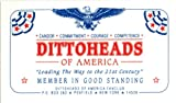 12 pc Dittoheads of America Original Membership Cards Collectible From Early 1990s Rush Limbaugh Fan Club - dozen cards to hand out!