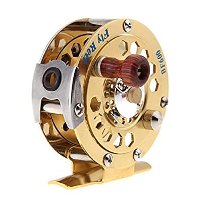 douself Full Metal Fly Fish Reel Former Ice Fishing Vessel Wheel BF600A 0.50/100(mm/m) 1:1