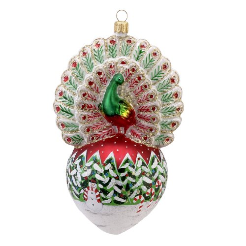 peacock christmas ornaments