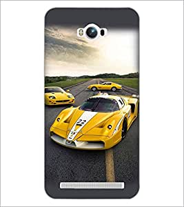 PrintDhaba Racing Car D-4309 Back Case Cover for ASUS ZENFONE MAX ZC550KL (2016) (Multi-Coloured)