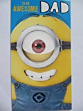 COLOURFUL DESPICABLE ME2 WITH THE MINIONS TO AN AWESOME DAD BIRTHDAY GREETING CARD