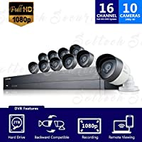 Samsung SDH-C75100 16 Channel All-in-one 2TB HDD DVR Security System w/ 10 1080p HD Cameras (Seller Refurbished)