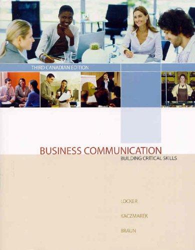 BUSINESS COMMUNICATION >CANADI