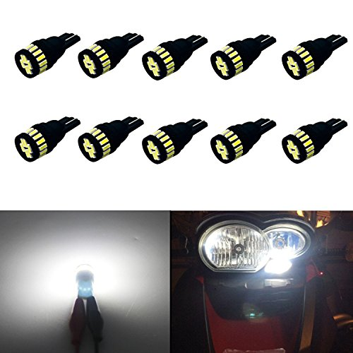 JDM ASTAR 10pcs Super Bright 360-Degree Shine 194 168 175 2825 T10 24-EX Chipsets LED Bulbs,Xenon White (Black Version) (1999 Jeep Factory Service Manual compare prices)