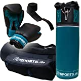 ScSPORTS DG02 Box-Set für Jugendliche Boxsack Boxhandschuhe Boxbandagen Tasche 5