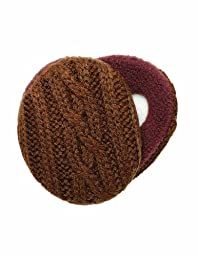 Sprigs Earbags Cable Knit with Thinsulate-Brown-Small