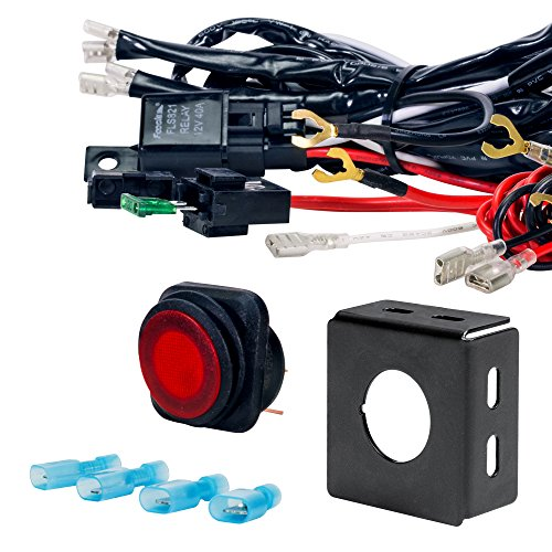 LAMPHUS CRUIZER Off Road ATV/Jeep LED Light Bar Wiring Harness Kit - 40 Amp Relay ON/OFF Switch (Off Road Lights Bar compare prices)
