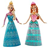 Celebrate the special friendship between sisters with this two-pack featuring Anna and Elsa, the sisters from Frozen who save their kingdom - and each other - from eternal winter. Each sister is dressed in a shimmering gown and regal accessories inspired by the movie. With Anna in a sparkling pink ball gown and Elsa in an icy teal dress, they are the perfect dolls for re-creating memorable moments from the film.