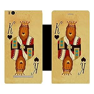 Skintice Designer Flip Cover with Vinyl wrap-around for Xiaomi Redmi Mi4i , Design - Card King