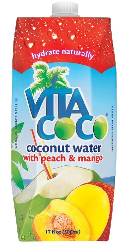 Vita Coco Coconut Water  Peach & Mango, 17-Ounce