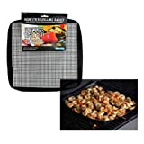 "Grill Basket - Non-stick Mesh Grilling Basket (12"" x 12"") - Dishwasher safe, Easy to Clean Surface for Indoor/Outdoor BBQ Use"