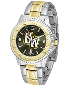 Wyoming Cowboys UW NCAA Mens Two-Tone Anochrome Watch by SunTime
