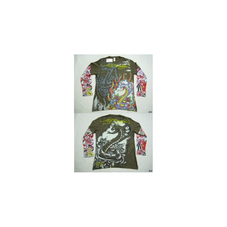 Ed Hardy By Christian Audigier Mens Long Sleeve Shirt